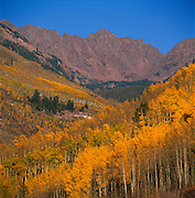 Gore Mountain Range View From Vail, Colorado, Fall