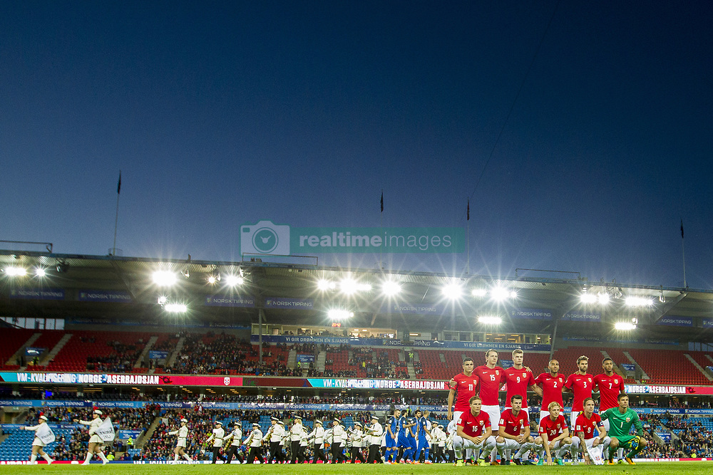 September 1, 2017 - Oslo, NORWAY - 170901 Norway pose for a team photo ahead of the FIFA World Cup Qualifier match between Norway and Azerbaijan on September 1, 2017 in Oslo..Photo: Vegard Wivestad GrÂ¿tt / BILDBYRN / kod VG / 170000 (Credit Image: © Vegard Wivestad Gr¯Tt/Bildbyran via ZUMA Wire)