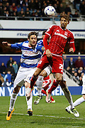 Middlesbrough FC midfielder Gaston Ramirez (21)  scores a goal to put Middlesbrough FC ahead during the Sky Bet Championship match between Queens Park Rangers and Middlesbrough at the Loftus Road Stadium, London, England on 1 April 2016. Photo by Andy Walter.