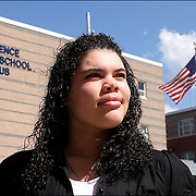 """I compare myself to a turtle"" says Arquianys Martinez, 15. She will receive her high school diploma from Lawrence High School on June7/2009. <br /> <br /> Arquianys, originally from Dominican Republic came to US when she was 8 years old. She managed to learned English while enrolled in several after-school programs."
