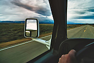 Driving, Big Hole Valley, Montana, storm, late Fall.