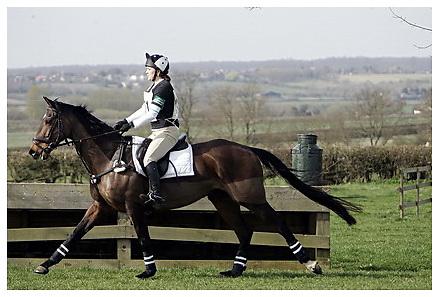 Buckingham Riding Club Eventer Trials at Milton Keynes Riding Club..5-4-2009.Moonshine Gap