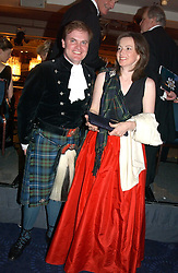 LORD DALMENY and his sister LADY EMMA MAHMOOD at the annual Royal Caledonian Ball in aid of The Royal Caledonian Ball Trust held at The Grosvenor House Hotel, Park Lane, London W1 on 28th April 2005.<br />