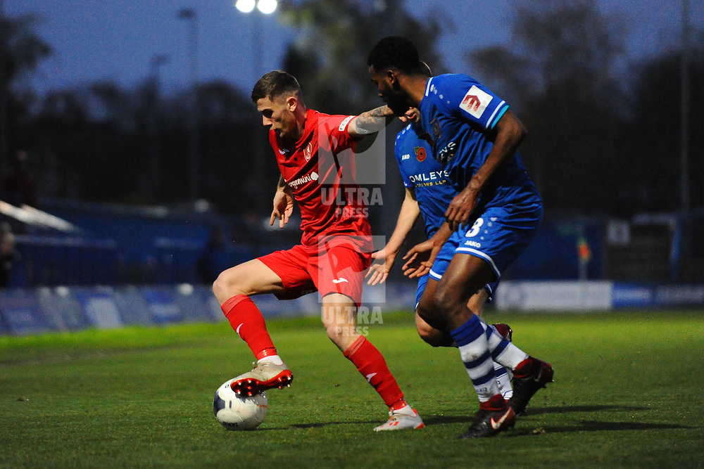 TELFORD COPYRIGHT MIKE SHERIDAN Arlen Birch of Telford during the Vanarama National League Conference North fixture between Curzon Asthon and AFC Telford United on Saturday, November 9, 2019.<br /> <br /> Picture credit: Mike Sheridan/Ultrapress<br /> <br /> MS201920-028