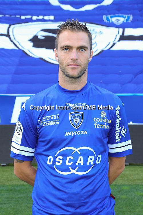 Julien SABLE - 09.10.2013 - Photo officielle Bastia 2013/2014 - Ligue 1<br /> Photo : Icon Sport