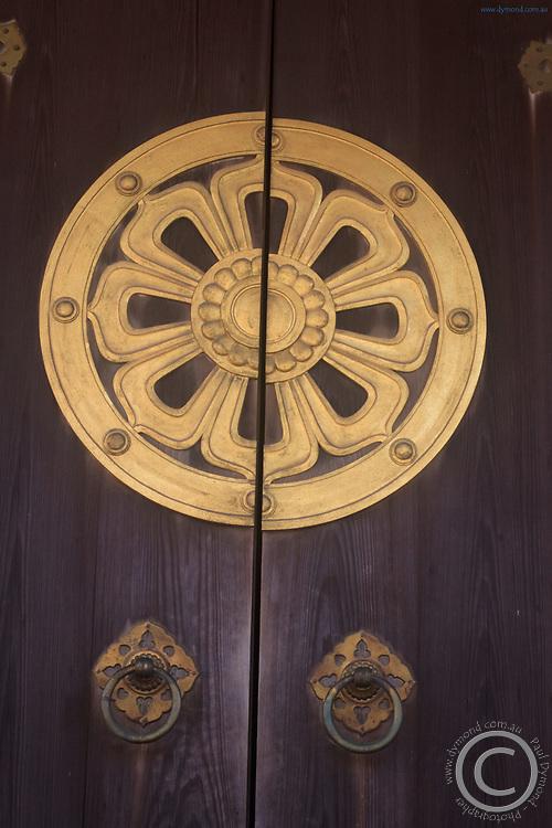 Ornate decorations at Narita Jinja (Shrine), a large Shinto shrine in the heart of Narita CIty, Japan