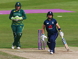 June 15, 2018 - Canterbury, England, United Kingdom - L-R Lizelle Lee South Africa Women and Heather Knight of England Women.during Women's One Day International Series match between England Women against South Africa Women at The Spitfire Ground, St Lawrence, Canterbury, on 15 June 2018  (Credit Image: © Kieran Galvin/NurPhoto via ZUMA Press)