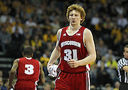 January 19 2013: Wisconsin Badgers forward Mike Bruesewitz (31) during the second half of the NCAA basketball game between the Wisconsin Badgers and the Iowa Hawkeyes at Carver-Hawkeye Arena in Iowa City, Iowa on Sautrday January 19 2013. Iowa defeated Wisconsin 70-66.