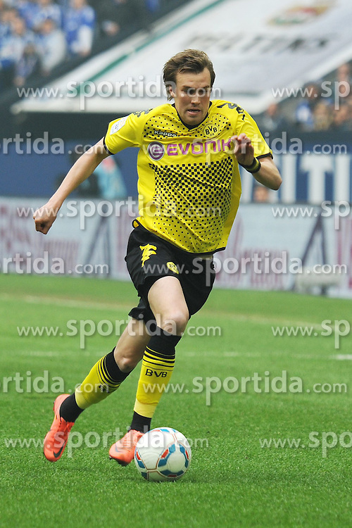 14.04.2012, Veltins Arena, Gelsenkirchen, GER, Schalke 04 vs Borussia Dortmund, 31. Spieltag, im Bild Kevin Grosskreutz ( Borussia Dortmund/ Freisteller ) // during the German Bundesliga Match, 31th Round between Schalke 04 and Borussia Dortmund at the Veltins Arena, Gelsenkirchen, Germany on 2012/04/14. EXPA Pictures © 2012, PhotoCredit: EXPA/ Eibner/ Thomas Thienel..***** ATTENTION - OUT OF GER *****