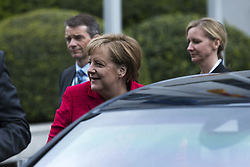 April 25, 2017 - Berlin, Germany - German Chancellor Angela Merkel is pictured upon her arrival at the Woman 20 Summit in Berlin, Germany on April 25, 2017. The event, which is connected to the G20 under the German leadership is dedicated to Women's Economic Empowerment and Entrepreneurship. (Credit Image: © Emmanuele Contini/NurPhoto via ZUMA Press)