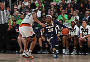 January 8, 2017: Arike Ogunbowale #24 of Notre Dame in action during the NCAA basketball game between the Miami Hurricanes and the Notre Dame Fighting Irish in Coral Gables, Florida. The 'Irish defeated the 'Canes 67-55.