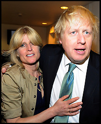 London Mayor Boris Johnson with his sister Rachel after winning the London Mayoral Election, Friday May 4, 2012. Photo By Andrew Parsons/I-images