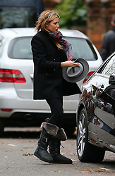 First pictures of Abbey Clancy after the anoucement that she is pregnant her second child with husband Peter Crouch. The stunning model wearing a grey trilby hat, black coat, leggings and a pair if Ugg boots, spotted out with her daughter Sophia and brother John Clancy on a Sunday afternoon... London, UK. 21/12/2014<br /> BYLINE MUST READ : JAMESY/GOTCHA IMAGES<br /> <br /> Copyright by © Gotcha Images Ltd. All rights reserved.<br /> Usage of this image is conditional upon the acceptance <br /> of Gotcha Images Ltd, terms and conditions available at<br /> www.gotchaimages.com