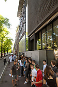 The Anne Frank House on the Prinsengracht in Amsterdam, The Netherlands, is a museum dedicated to Jewish wartime diarist Anne Frank, who hid from Nazi persecution with her family and four other people in hidden rooms at the rear of the building. As well as the preservation of the hiding place — known in Dutch as the Achterhuis —and an exhibition on the life and times of Anne Frank, the museum acts as an exhibition space to highlight all forms of persecution and discrimination.<br />