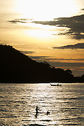 Malaysia, Langkawi. Meritus Pelangi Beach Resort & Spa. Sunset at the beach.