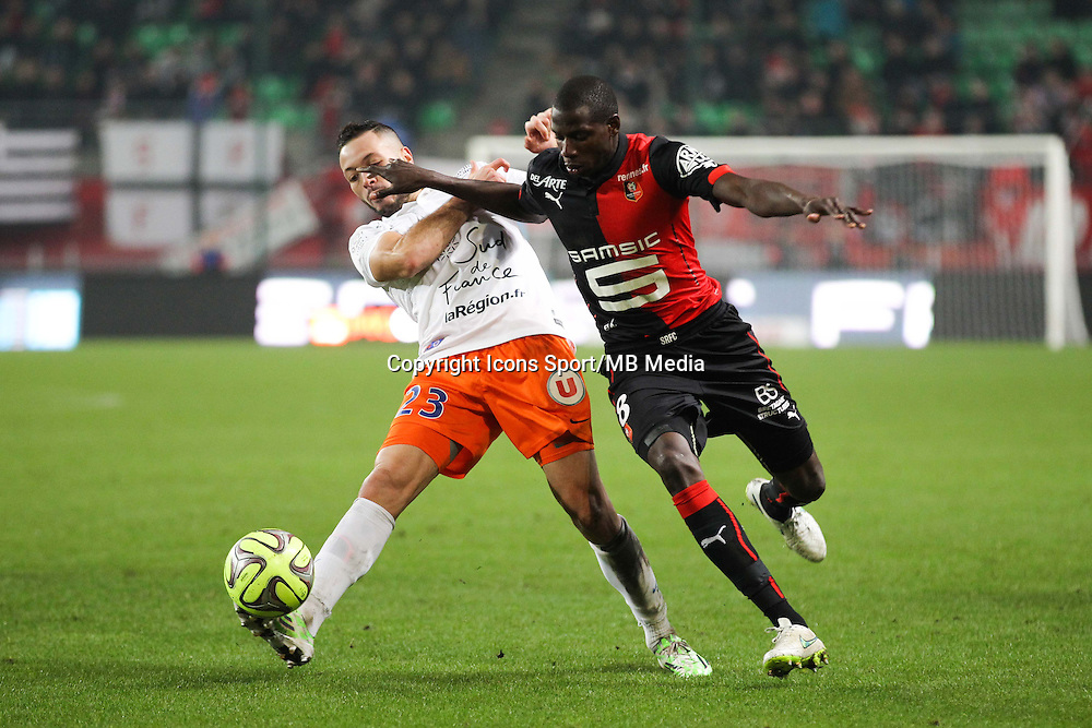 Abdoulaye DOUCOURE / Jamel SAIHI - 06.12.2014 - Rennes / Montpellier - 17eme journee de Ligue 1 -<br />Photo : Vincent Michel / Icon Sport