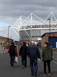 Fans arrive at St Marys Stadium - Photo mandatory by-line: Robbie Stephenson/JMP - Mobile: 07966 386802 - 21/03/2015 - SPORT - Football - Southampton - ST Marys Stadium - Southampton v Burnley - Barclays Premier League