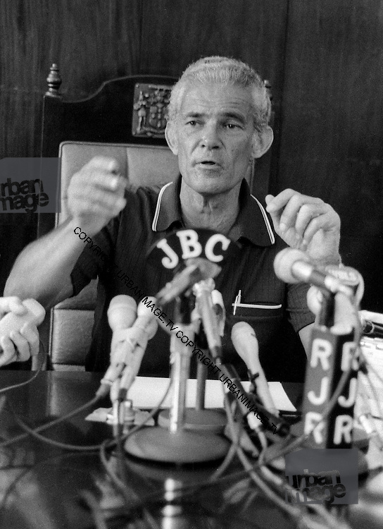 PNP leader Michael Manley