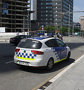 Police emergency vehicle in Barcelona. Spain 2013