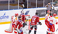 2020-01-19 | Umeå, Sweden:Vallentuna reduce to 5-1 by Vallentuna (17) Marcus Andersson in AllEttan during the game  between Teg and Vallentuna at A3 Arena ( Photo by: Michael Lundström | Swe Press Photo )<br /> <br /> Keywords: Umeå, Hockey, AllEttan, A3 Arena, Teg, Vallentuna, mltv200119