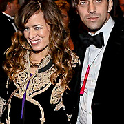 NLD/Amsterdam/20081211 - Miljonairfair 2008, Jade Jagger en partner Dan Williams