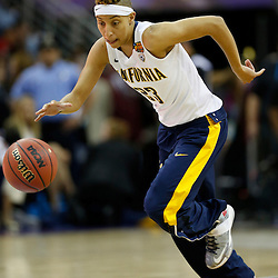 April 7, 2013; New Orleans, LA, USA; California Golden Bears guard Layshia Clarendon (23) warms up before the semifinals during the 2013 NCAA womens Final Four against the Louisville Cardinals at the New Orleans Arena. Mandatory Credit: Derick E. Hingle-USA TODAY Sports