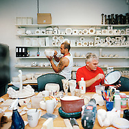 Halden Prison, Norway, June 2014:<br /> The ceramic workshop.<br /> -- No Commercial use --<br /> Photo: Knut Egil Wang/Moment/INSTITUTE