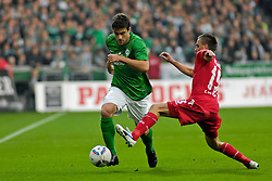 05.11.2011, Weser Stadion, Bremen, GER, 1.FBL, Werder Bremen vs 1.FC Köln, im Bild Sokratis Papastathopoulos (Bremen #22) im Duell mit Sebastian Prödl / Proedl (Bremen #15) // during the match GER, 1.FBL, Werder Bremen vs 1.FC Koeln on 2011/11/05, 12. matchday, Weser Stadion, Bremen, Germany. EXPA Pictures © 2011, PhotoCredit: EXPA/ nph/  Gumz       ****** out of GER / CRO  / BEL ******