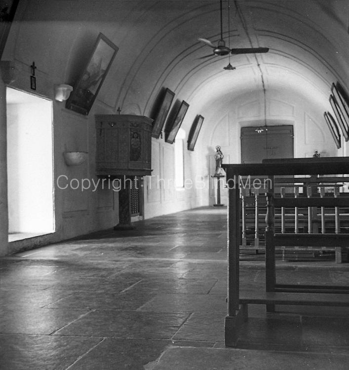 St. Thomas Mount, National Shrine, Chennai.<br /> India. Church Interior