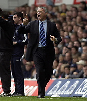 Picture: Henry Browne.Digitalsport<br /> Date: 03/04/2004.<br /> Tottenham Hotspur v Chelsea FA Barclaycard Premiership.<br /> <br /> Claudio Ranieri directs his players.