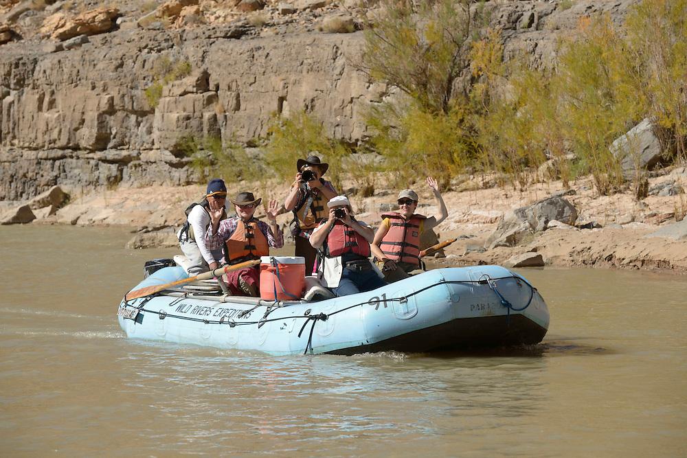Rafting on San Juan River near Bluff, Southern Utah, USA