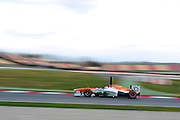 February 19, 2013 - Barcelona Spain. Paul di Resta, Sahara Force India F1 Team  during pre-season testing from Circuit de Catalunya.