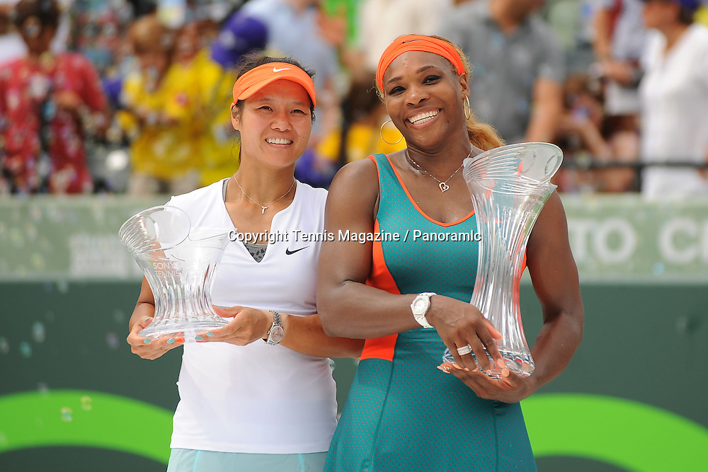 Na Li (CHN)<br /> Serena Williams (USA)