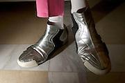 Belo Horizonte_MG, Brasil...Detalhe do tenis do designer egipcio Karim Rashid...Detail of Karim Rashid sneakers, he is a Egyptian designer...Foto: LEO DRUMOND / NITRO
