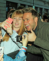 Olly Murs, Celebrity sightings in London, 03 October 2014, Photo by Mike Webster