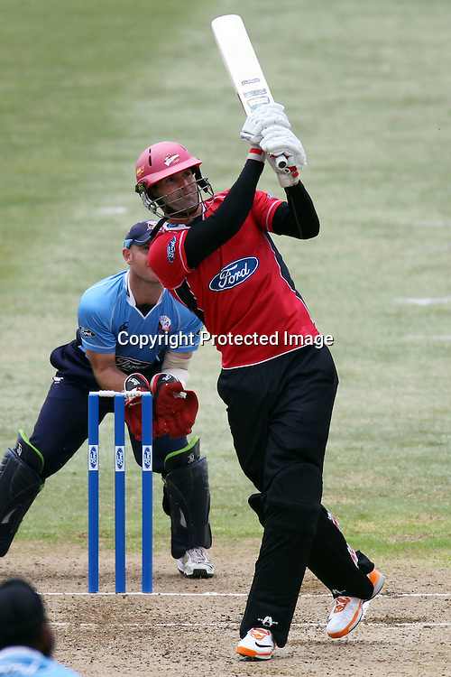 Andrew Ellis during the Ford Trophy match between the Auckland Aces and Canterbury Wizards. Men's domestic one day cricket. Colin Maiden Park, Auckland, New Zealand. Wednesday 14 December 2011. Ella Brockelsby / photosport.co.nz