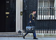 © Licensed to London News Pictures. 05/02/2013. Westminster, UK A US air woman carries a suit case ahead of American Vice President Joe Biden's departure from  number 10 Downing Street after meetings today 5th February 2013. Photo credit : Stephen Simpson/LNP