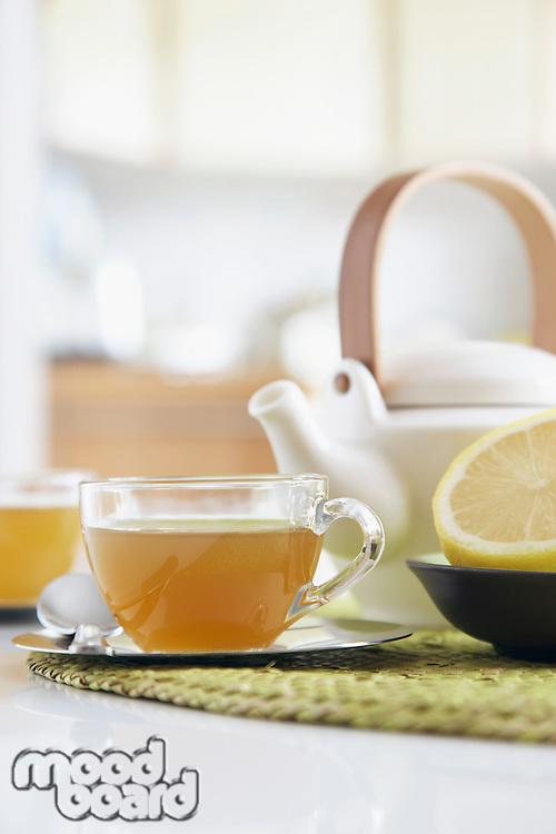 Tea set close-up