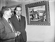 10/06/1958<br /> 06/10/1958<br /> 10 June 1958<br /> <br /> Tipperary Men's Painting's Dublin Exhibition at the Brown Thomas Little Theatre on Grafton St.