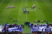 Haka demonstration behind french team during the 2017 Autumn Test Match between France and New Zealand on November 11, 2017 at Stade de France in Saint-Denis, France - Photo Stephane Allaman / ProSportsImages / DPPI