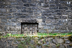 CZECH REPUBLIC FRYDLANT 4SEP15 - Detail view of a bricked-up entrance to the catacombs in the moat of Frydlant castle, Liberecko, Czech Republic.<br /> <br /> jre/Photo by Jiri Rezac<br /> <br /> © Jiri Rezac 2015