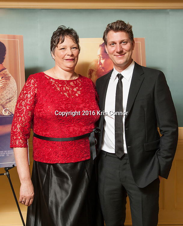 CHARLOTTESVILLE, VA - NOVEMBER 03: Peggy Loving and Director Jeff Nichols pose for a photo during the Virginia Film Festival premiere of Focus Features' Loving at The Paramount Theatre on November 3, 2016 in Charlottesville, Va. (Kris Connor/Focus Features)