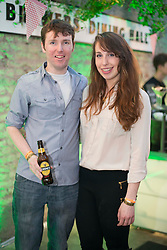 Repro Free: 14/03/2014 Anthony McGuinness and Jenny Kearns pictured at the Guinness Storehouse St. Patrick's Festival. The four day festival is showcasing some of Ireland's best music, food and rugby over the weekend including an intimate performance by acclaimed rock band The Coronas. Enjoy GUINNESS sensibly. Visit drinkaware.ie Pic Andres Poveda