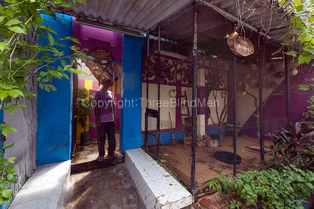 &quot;Moss Garden&quot; is the municipal public toilet and bathing place down Java Lane.<br /> Slave, Island, Colombo.