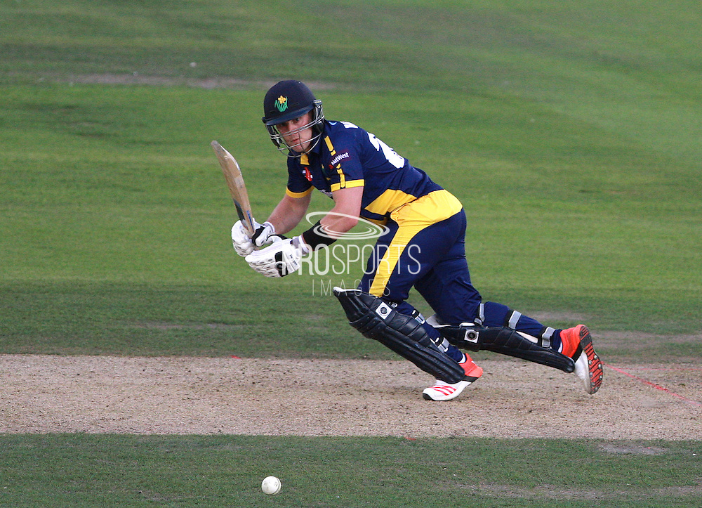 Ben Wright top-scored for Glamorgan with an innings of 63 during the NatWest T20 Blast South Group match between Sussex County Cricket Club and Glamorgan County Cricket Club at the BrightonandHoveJobs.com County Ground, Hove, United Kingdom on 10 July 2015. Photo by Bennett Dean.
