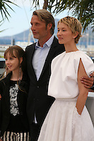 Mads Mikkelsen, Mélusine Mayance, Delphine Chuillot, .at Michael Kohlhaas Film Photocall Cannes Film Festival On Friday 24th May May 2013