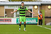 Forest Green Rovers William Randell(19) during the EFL Sky Bet League 2 match between Forest Green Rovers and Exeter City at the New Lawn, Forest Green, United Kingdom on 9 September 2017. Photo by Shane Healey.