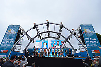Team Dimension Data (RSA)/ Mark CAVENDISH (GBR)/ Natnael BERHANE (ERI)/ Edvald BOASSON HAGEN (NOR)/ Stephen CUMMINGS (GBR)/ Bernhard EISEL (AUT)/ Reinardt JANSE VAN RENSBURG (RSA)/ Serge PAUWELS (BEL)/ Mark RENSHAW (AUS)/ Daniel TEKLEHAIMANOT (ERI) during the 103rd Tour de France 2016, Team Presentation, at Sainte-Mère-l'Eglise in France, on June 30, 2016 - Photo Tim de Waele / DPPI