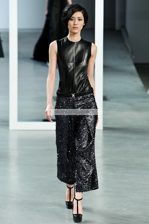 Liu Wen walks down runway for F2012 Derek Lam's collection in Mercedes Benz fashion week in New York on Feb 10, 2012 NYC