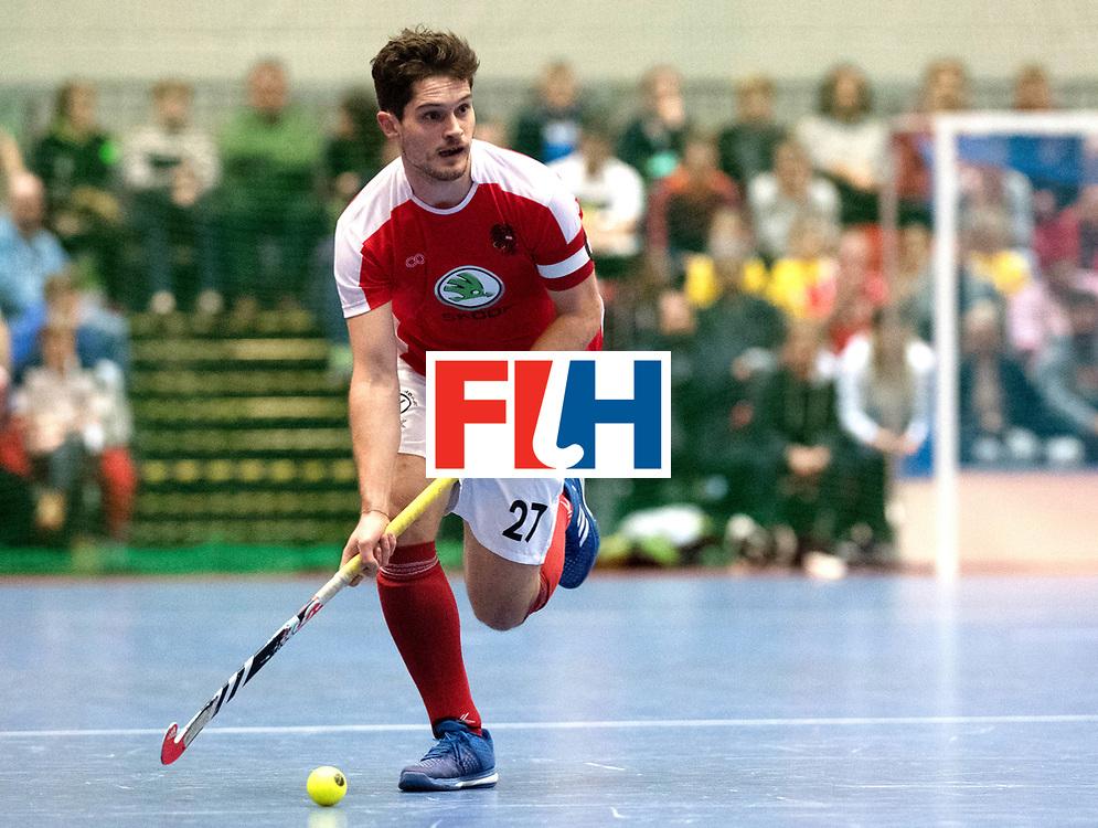 BERLIN - Indoor Hockey World Cup<br /> Austria - Belgium<br /> foto: HASUN Xaver (C)<br /> WORLDSPORTPICS COPYRIGHT FRANK UIJLENBROEK